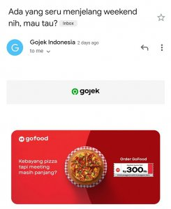 non stop email marketing by gojek