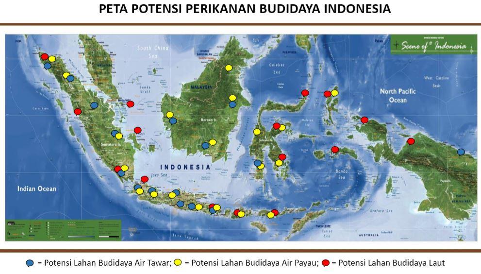 peta potensi perikanan Indonesia