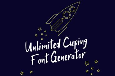 Unlimited Cuping Font